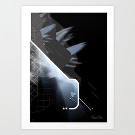 Off-Centred Art Print