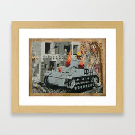 Burning Panzer IV Framed Art Print