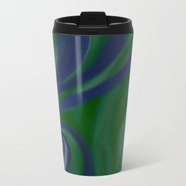 BLUE and green SWIRL Metal Travel Mug