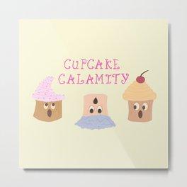 Cupcake Calamity Metal Print