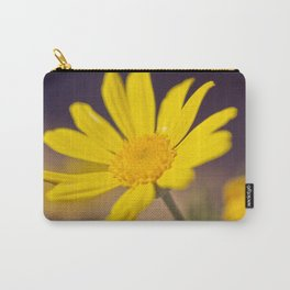Bright Yellow Daisy - floral photography Carry-All Pouch