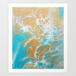 Ocean Marble Art Print