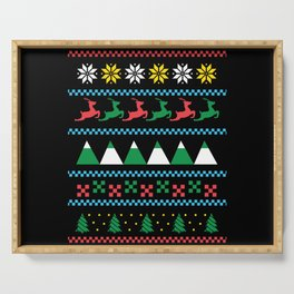 UGLY SWEATER WINTER Serving Tray