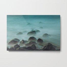 Ocean waves against the rocks Metal Print