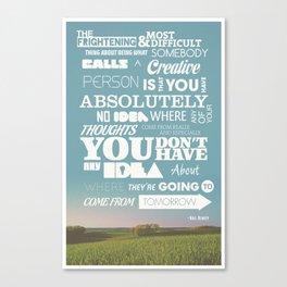 Creative Reassurance  Canvas Print
