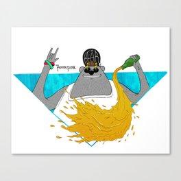 Party Bear Canvas Print