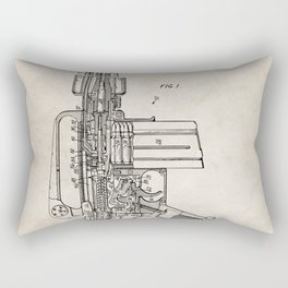 M16 Rifle Patent - Military Rifle Art - Antique Rectangular Pillow
