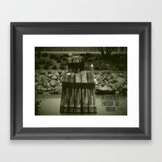 Sleep like a log Framed Art Print