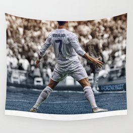 cr7 clebration Wall Tapestry
