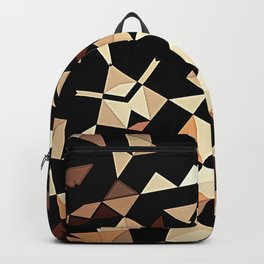 Patchwork Half Mandala Neutral Tones Backpack