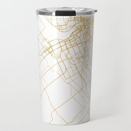 OTTAWA CANADA CITY STREET MAP ART Travel Mug