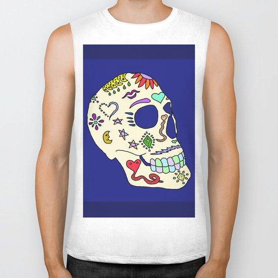 Sugar Skull Side Biker Tank