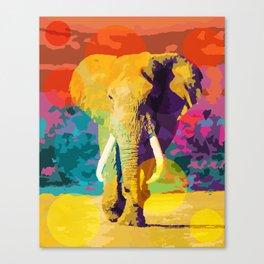 Elephant Pop Canvas Print