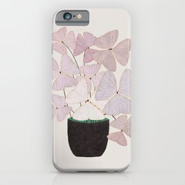 Botanical  clover Pot iPhone Case