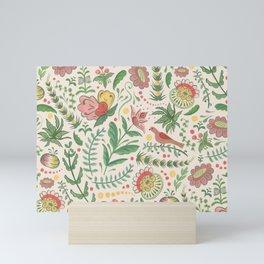 Swedish Floral - Cream Mini Art Print