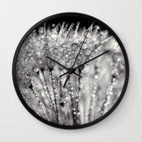 silver Wall Clocks featuring silver by Bonnie Jakobsen-Martin