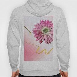 pink gerbera daisy with ribbon Hoody