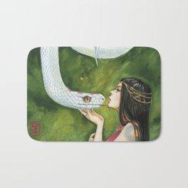 The White Snake Bath Mat