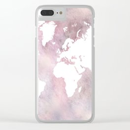 Design 66 world map Clear iPhone Case