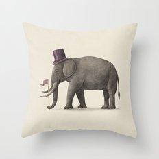 Elephant Day  Throw Pillow