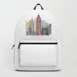 Atlanta skyline poster Backpack