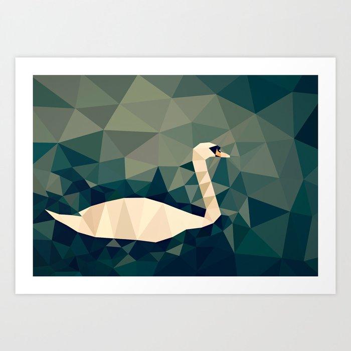 Cygnus olor Art Print