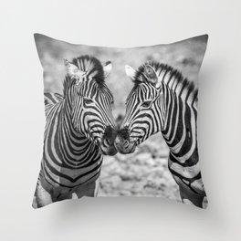 B&W Zebra 3 Throw Pillow