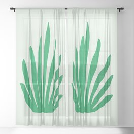 Meadow: Matisse Color Series I | Mid-Century Edition Sheer Curtain