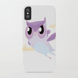 Purple Owl iPhone Case