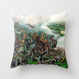 Civil War -- Battle of Five Forks Throw Pillow