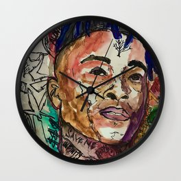 X,rapper,rip,hiphop,music icon,lyrics,colourful poster,dope,wall art,cool,shirt Wall Clock