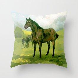 Sound Reason (CAN) - Thoroughbred Stallion Throw Pillow