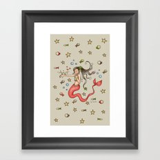 Mermaid {Lovely} Framed Art Print