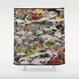 Abstract with Leaf Shower Curtain