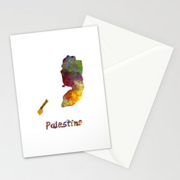 Palestine in watercolor Stationery Cards