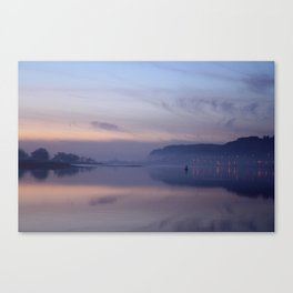 sunset on the clyde  Canvas Print