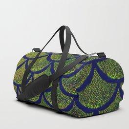 Chartreuse Cobalt Scales Duffle Bag
