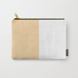 White and Sunset Orange Vertical Halves Carry-All Pouch