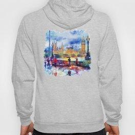 London Rain watercolor Hoody