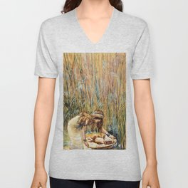 Pharaoh's Daughter Has Moses Brought to Her - Digital Remastered Edition Unisex V-Neck