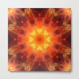 Solar Energy Portal Mandala Metal Print