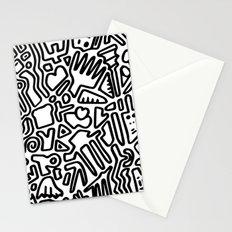 black & white doodle Stationery Cards