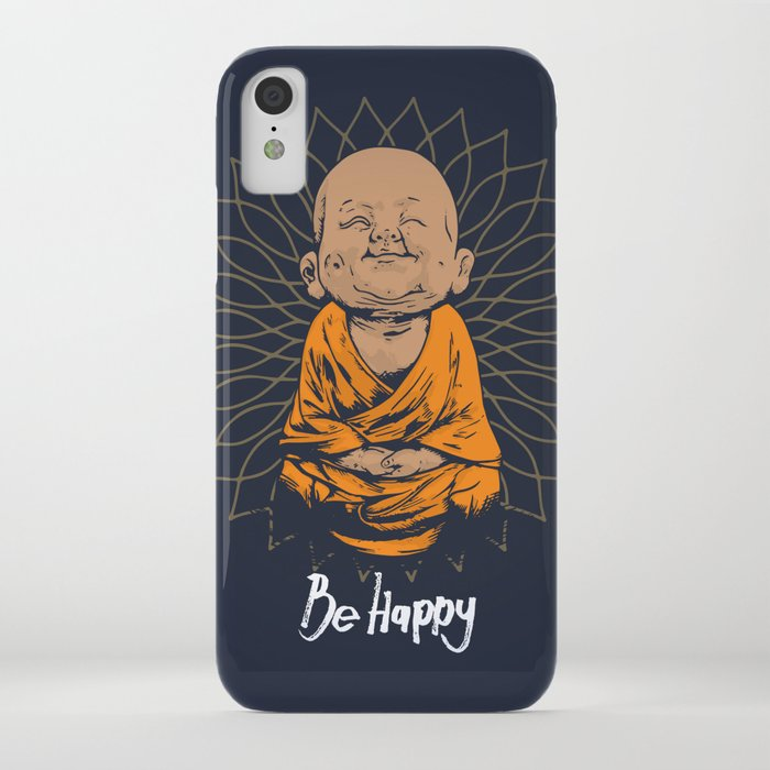 be happy little buddha iphone case