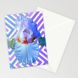 MODERN ART DECO PATTERN IRIS PATTERN ART Stationery Cards