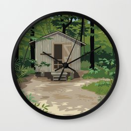 Pinewoods Cabin Wall Clock