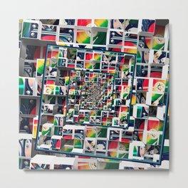 Computer Disks Pop Art Metal Print