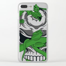 Skull Vs. Dragon Clear iPhone Case