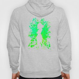 Anime Hero Paint Splatter Inspired Shirt Hoody