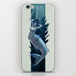 Blue Chromis Mermaid iPhone Skin