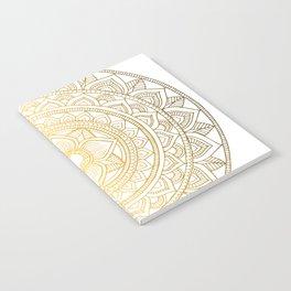 Gold Bali Mandala Notebook